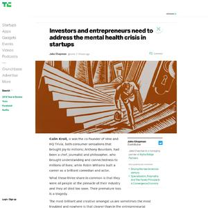 Investors and entrepreneurs need to address the mental health crisis in startups