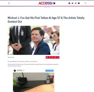 Michael J. Fox Got His First Tattoo At Age 57 & The Artists Totally Geeked Out
