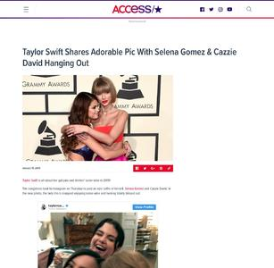 Taylor Swift Shares Adorable Pic With Selena Gomez & Cazzie David Hanging Out