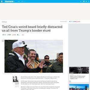 Ted Cruz's weird beard briefly distracted us all from Trump's border stunt