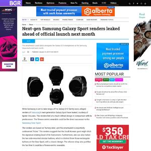 Next-gen Samsung Galaxy Sport renders leaked ahead of official launch next month