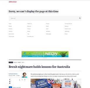 Brexit nightmare holds lessons for Australia