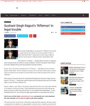 Sushant Singh Rajput's 'Rifleman' in legal trouble