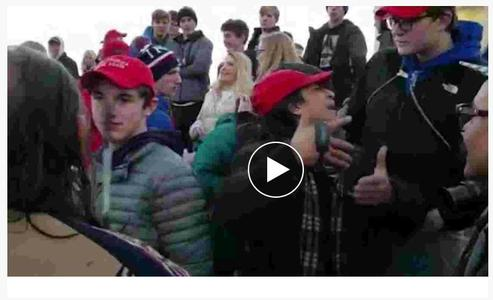 U.S. students mock Native American after rally