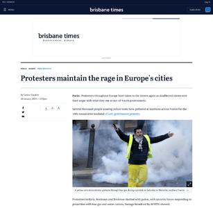 Protesters maintain the rage in Europe's cities
