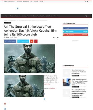 Uri The Surgical Strike box office collection Day 10: Vicky Kaushal film joins Rs 100-crore club