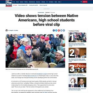 Video shows tension between Native Americans, high school students before viral clip