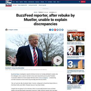 BuzzFeed reporter, after rebuke by Mueller, unable to explain discrepancies