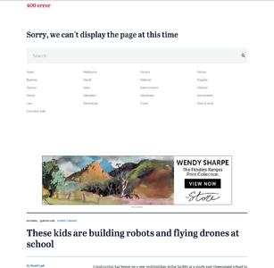 These kids are building robots and flying drones at school