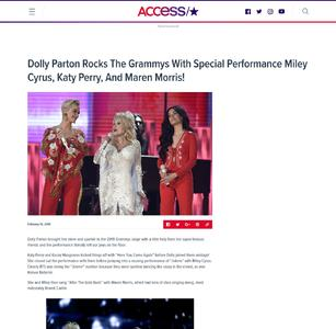 Dolly Parton Rocks The Grammys With Special Performance Miley Cyrus, Katy Perry, And Maren Morris!