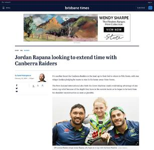 Jordan Rapana looking to extend time with Canberra Raiders