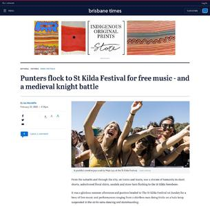 Punters flock to St Kilda Festival for free music - and a medieval knight battle