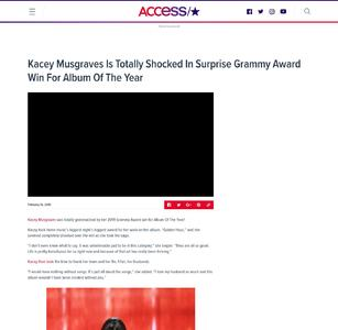 Kacey Musgraves Is Totally Shocked In Surprise Grammy Award Win For Album Of The Year