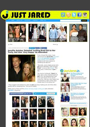 Jennifer Aniston 'Debated' Inviting Brad Pitt to Her Party, But Was 'Very Happy' He Attended!