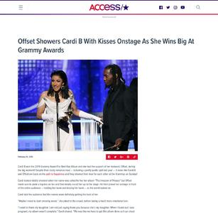 Offset Showers Cardi B With Kisses Onstage As She Wins Big At Grammy Awards