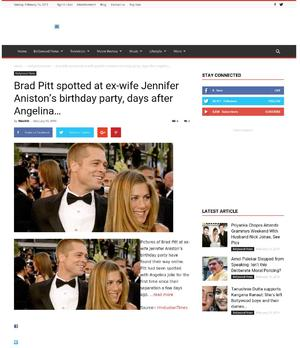 Brad Pitt spotted at ex-wife Jennifer Aniston's birthday party, days after Angelina…