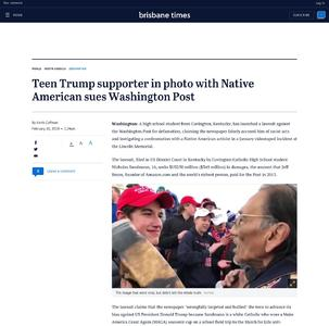 Teen Trump supporter in photo with Native American sues Washington Post