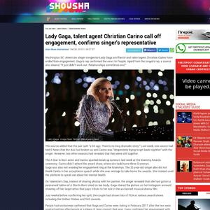 Lady Gaga, talent agent Christian Carino call off engagement, confirms singer's representative