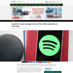 Spotify's free Google Home Mini offer extends to Canada