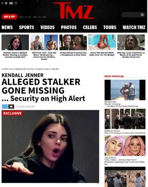 Kendall Jenner's Alleged Stalker Missing in Canada, Security on High Alert