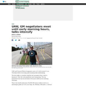 UAW, GM negotiators meet until early morning hours, talks intensify