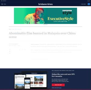 Abominable film banned in Malaysia over China scene