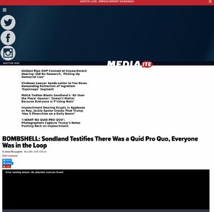 BOMBSHELL: Sondland Testifies There Was a Quid Pro Quo, Everyone Was in the Loop