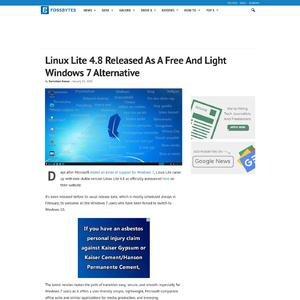 Linux Lite 4.8 Released As A Free And Light Windows 7 Alternative