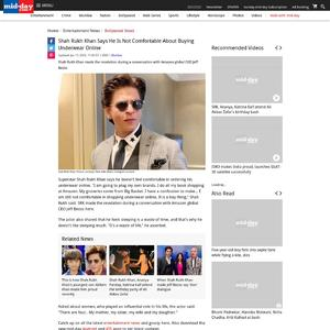 Shah Rukh Khan says he is not comfortable about buying underwear online