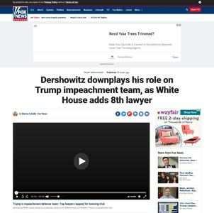Dershowitz downplays his role on Trump impeachment team, as White House adds 8th lawyer