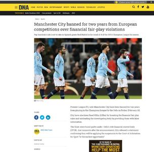 Manchester City banned for two years from European competitions over financial fair-play violations
