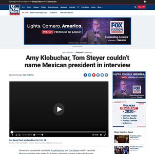 Amy Klobuchar, Tom Steyer couldn't name Mexican president in interview