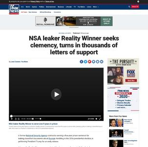NSA leaker Reality Winner seeks clemency, turns in thousands of letters of support