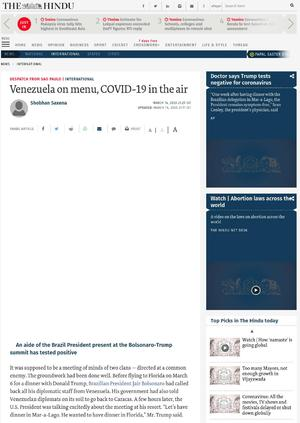 Venezuela on menu, COVID-19 in the air