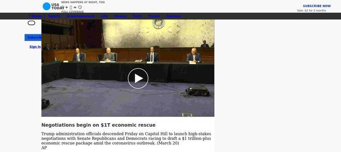 Negotiations begin on $1T economic rescue