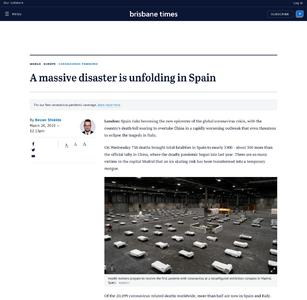 A massive disaster is unfolding in Spain