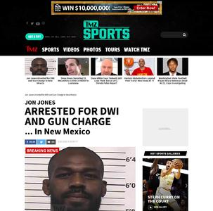 Jon Jones Arrested for DWI and Gun Charge In New Mexico