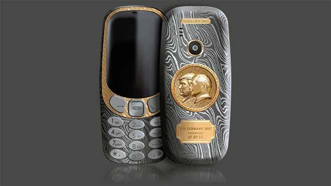 Nokia 3310 Trump/Putin smartphone marking the occasion of the 2017 G20 summit in Hamburg Germany