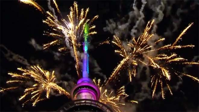 Happy New Year 2018 from One News Page! New Zealand among first to welcome 2018 with fireworks display